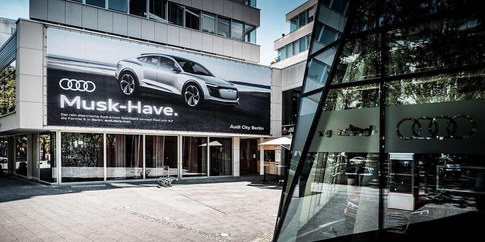 Audi дражнить Теслу та Елона Маска в рекламі свого майбутнього електромобіля