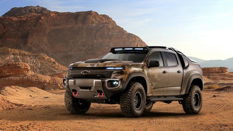 Chevrolet Colorado ZH2 - бойовий електрокар для армії США