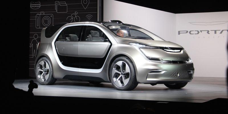 Chrysler представив сімейний електромобіль на виставці CES 2017 в Лас-Вегасі