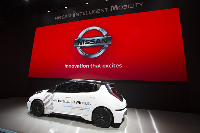 Оновлений Nissan Leaf на виставці CES 2017