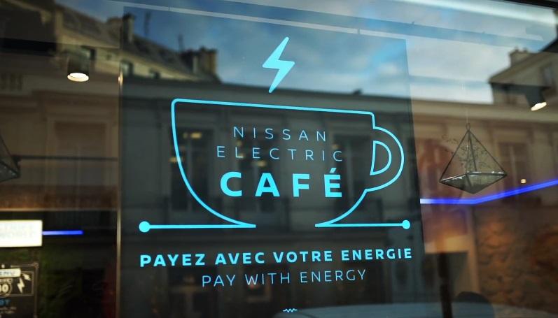 В кафе від Nissan можна розплатитися електроенергією