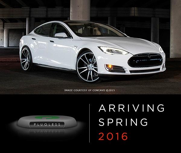 Безпровідна зарядка для автомобіля Тесла моделі С
