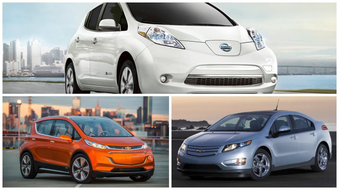 Продажі електромобілів у травні