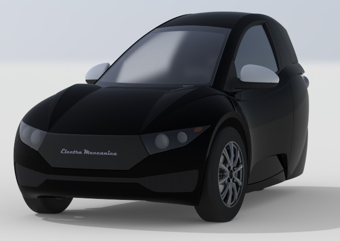 Стильний триколісний електромобіль SOLO від канадської Electra Meccanica