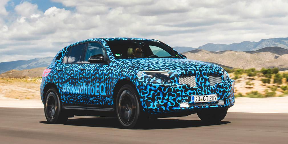 Mercedes розповів про випробування електричного кросовера EQC
